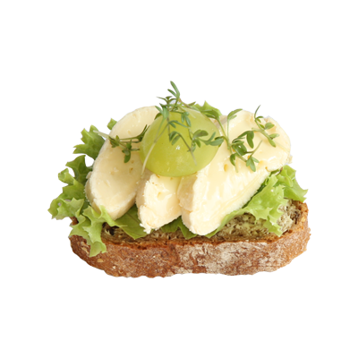 Canapee mit Camembert